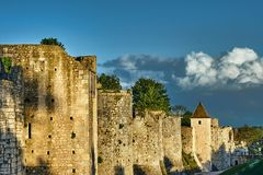 The medieval towers and ramparts Stock Photography