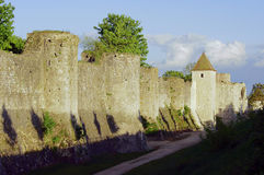 The medieval towers and ramparts Royalty Free Stock Photos