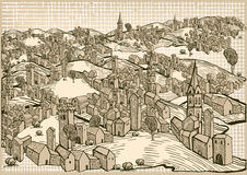 Medieval town Stock Image
