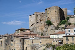 The medieval town. In the Tuscany Royalty Free Stock Photos