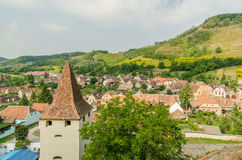Medieval Town Aerial View Royalty Free Stock Images