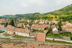 Medieval Town Aerial View Stock Image