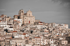 Medieval town Agira, Sicily. Historic architecture of Agira, Sicily Stock Photography