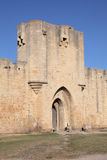 Medieval town Aigues-Mortes. Gate to the medieval town Aigues-Mortes, France Stock Photo