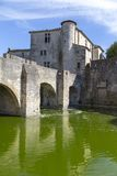 Medieval town of Aigues Mortes Stock Photography