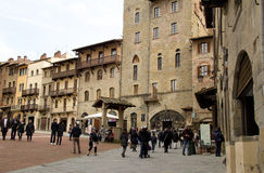 The medieval town of Arezzo, Italy Stock Images