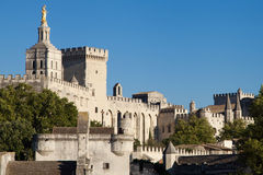 Medieval town of Avignon Stock Image