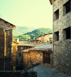 Medieval town of Baga in Catalonia Stock Images
