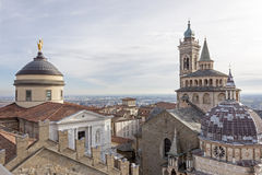 The medieval town of Bergamo, Cappella Colleoni Stock Images