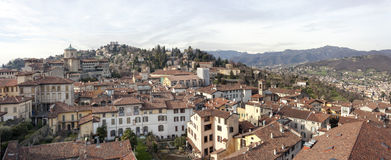 The medieval town of Bergamo Stock Photography