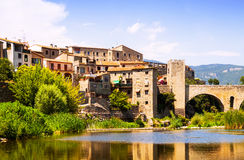 Medieval town. Besalu Stock Photos