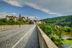 Medieval town. Bridge to the historic town in the heart of Europe Royalty Free Stock Photo