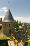 Medieval town of Carcassonne. Fairy castle Stock Photos
