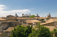 Medieval town of Carcassonne. Fairy castle Stock Photography