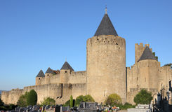 Medieval town Carcassonne, France Stock Photos