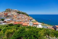 Medieval town Castelsardo, Sardinia, Italy Stock Photos
