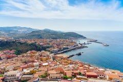 Medieval town of Castelsardo on Sardinia. Italy Stock Photos