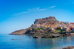 Medieval town of Castelsardo on Sardinia. Italy Stock Image