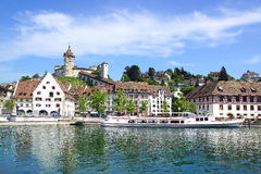 Medieval town centre. Schaffhausen, Switzerland Royalty Free Stock Photos