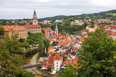 Medieval town Cesky Krumlov , Czech Republic Stock Photo