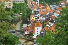 Medieval town Cesky Krumlov , Czech Republic Stock Photos