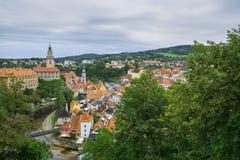 Medieval town Cesky Krumlov , Czech Republic Stock Image