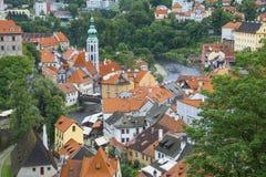 Medieval town Cesky Krumlov , Czech Republic Royalty Free Stock Image
