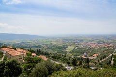 Medieval town Cortona in Tuscany, Italy Stock Photography