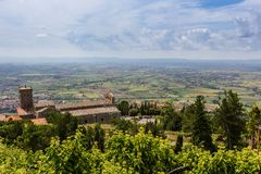 Medieval town Cortona in Tuscany, Italy Royalty Free Stock Image