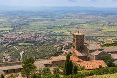 Medieval town Cortona in Tuscany, Italy Royalty Free Stock Photo