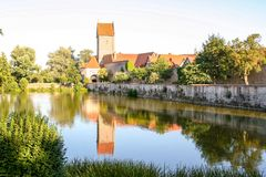 The medieval town of Dinkelsbuh royalty free stock photography