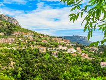 Village at the top of a hill. Provence, France royalty free stock photo