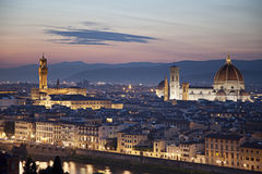 Medieval town of Florence with Duomo, Italy stock photography