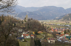 Medieval Town Friesach and Geiersburg Royalty Free Stock Image