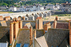 Medieval town Gien, France. View of medieval town Gien, France Stock Photo