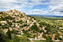 Medieval town of Gordes at the Provence Royalty Free Stock Photos