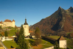Medieval town of Gruyères Stock Photo
