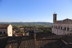 Medieval Town Gubbio in Umbria- Palazzo dei Consoli. In Italy Royalty Free Stock Photo