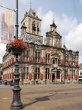 The medieval town hall in the city of Delft Royalty Free Stock Photo