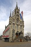 Medieval Town Hall in Gouda Netherlands Royalty Free Stock Photo