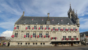 Medieval town hall in Gouda the Netherlands Stock Image