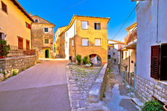 Medieval town of Kastav colorful street view. Kvarner bay, Croatia Stock Images