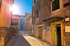 Medieval town of Kastav street at sunset view. Kvarner bay, Croatia Royalty Free Stock Image