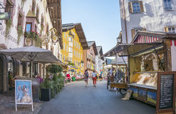 Medieval town of Kitzbuhel, Tirol Stock Images