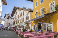 Medieval town of Kitzbuhel, Tirol Royalty Free Stock Images