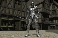 Medieval Town Knight 01 Stock Photo