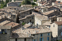 The medieval town of Largentiere, France Stock Images