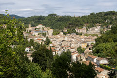 The medieval town of Largentiere, France Royalty Free Stock Photos
