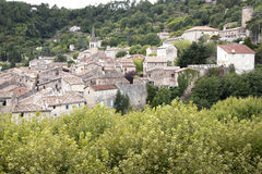 The medieval town of Largentiere, France Royalty Free Stock Images