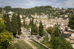 The medieval town of Largentiere, France Stock Photography